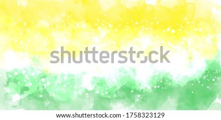 Green multicolor background watercolor. Green multicolor splash watercolor. Water color backdrop. Green multicolor background watercolor. Abstract multicolor splash watercolor on white background.