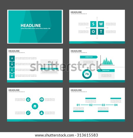 Green Multipurpose Infographic elements and icon presentation template flat design set for advertising marketing brochure flyer leaflet