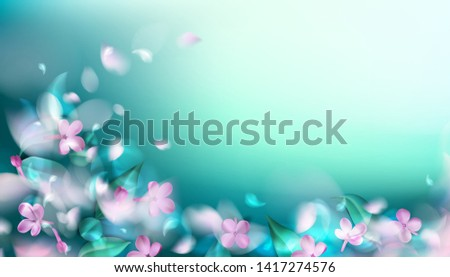 green mystery spring background