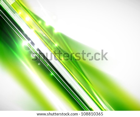 Green natural abstract vector background set. Straight lines