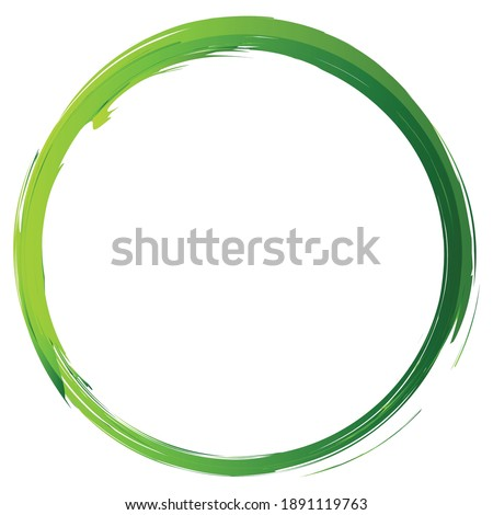 Green, natural, eco concept grungy, grunge, textured circle, ring vector design element
