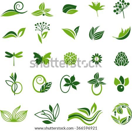 green natural symbols