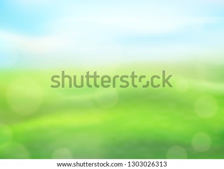 green nature background on a