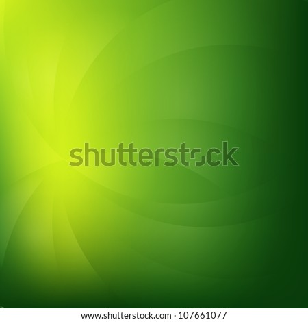 Green Nature Background With Line, Vector Illustration