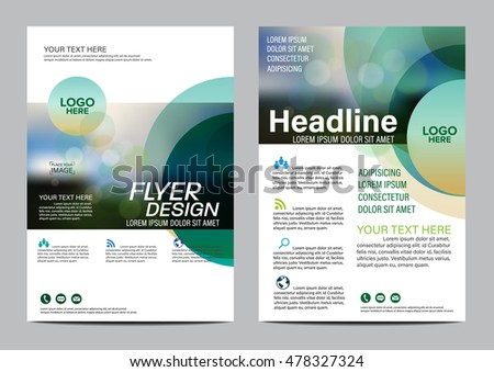 Green nature Brochure Layout design template. Annual Report Flyer Leaflet cover Presentation Modern background. illustration vector in A4 size