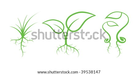 Green Nature Icons. Part 7 - Sprouts
