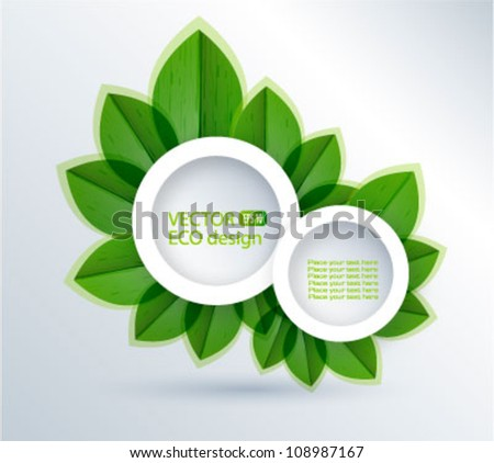 Green nature leaves vector background.Think Green. Ecology Concept.