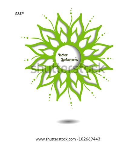 Green nature modern creative 3d vector art