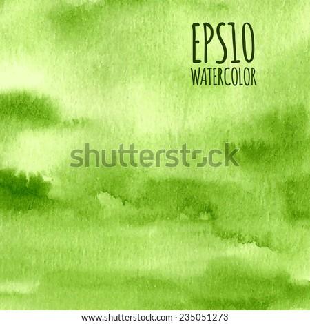green nature watercolor