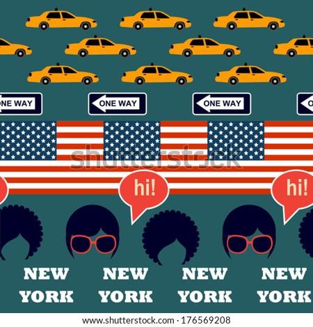 green new york pattern