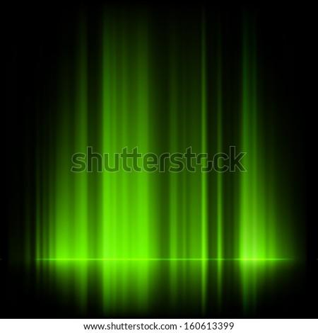 green northern lights  aurora