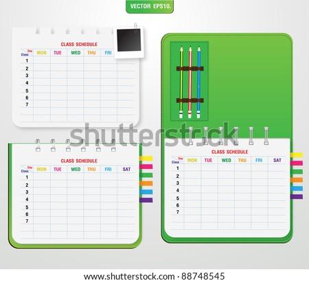 college class schedule example