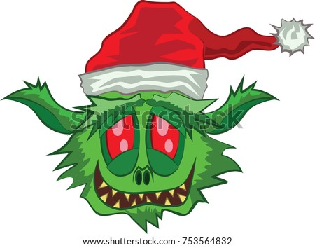 green ogre laughing at christmas