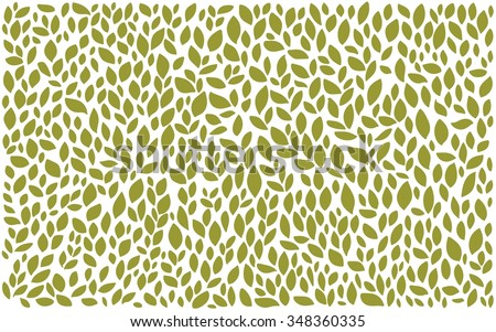 green on white natural nature leaves pattern