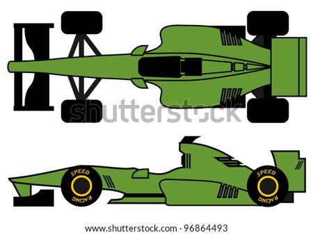 Green open wheel car