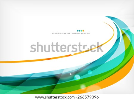 Green orange yellow colors shiny line concept. Graphic message board stock photo
