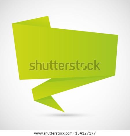 green origami speech bubble