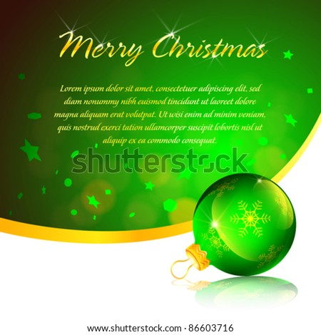 Green ornament christmas card background (EPS10)