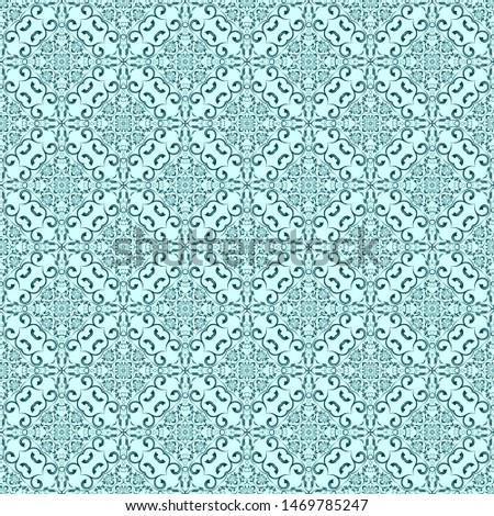 Green ornament on background. Seamless ornament on background. Floral ornament on background. Wallpaper pattern. Template for design of your interior