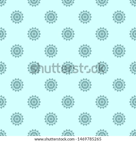 Green ornament on background. Seamless ornament on background. Floral ornament on background. Wallpaper pattern. Textile pattern