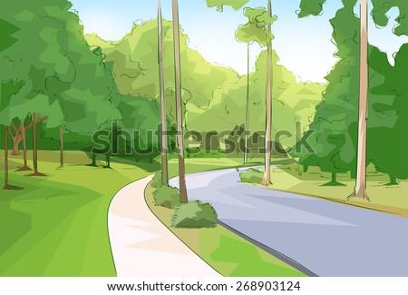 green park forest road modern
