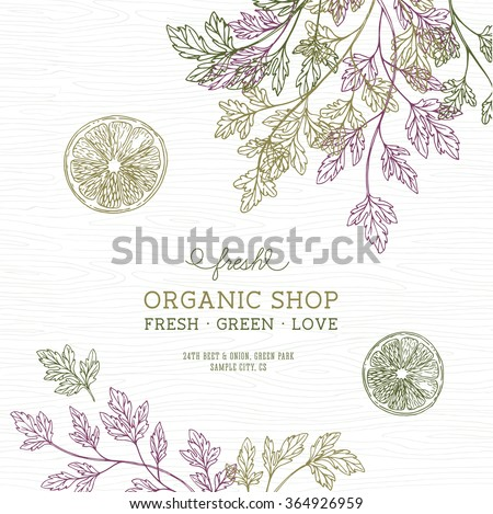 green parsley design template