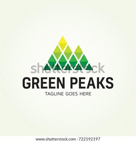 green peaks logo design