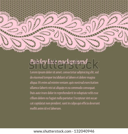 Green-pink lace background