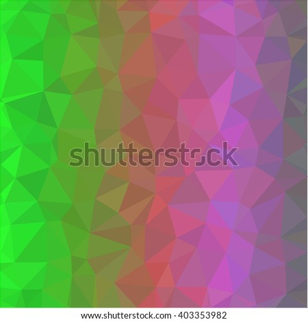 green pink polygon background