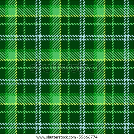 Green plaid pattern