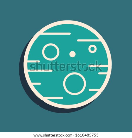 green planet mars icon isolated