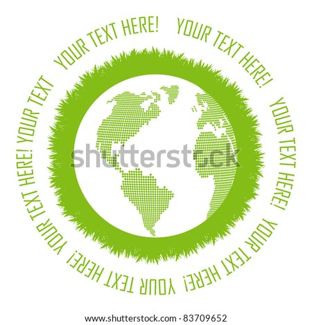 Green planet vector background concept with copy space for your text