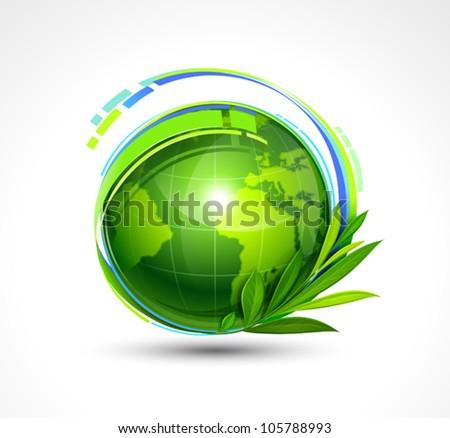 Green Planet. Vector illustration