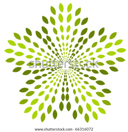 Green plant abstract logo symbol. Vector icon