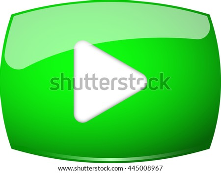 green play button vector icon