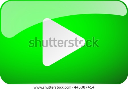 green play button vector