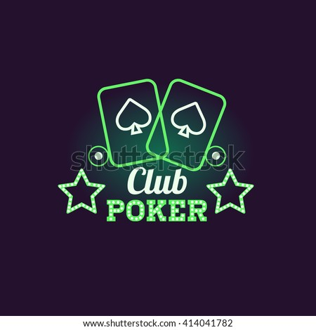 green poker club neon sign las