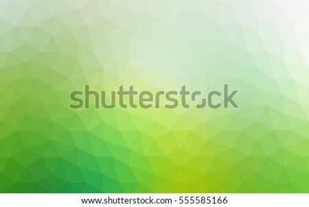 green polygonal illustration