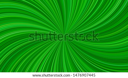 Green psychedelic abstract striped swirl background design - vector graphic with swirling rays