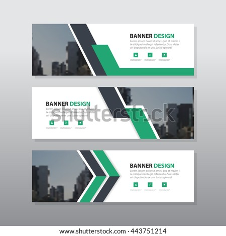 Green purple abstract corporate business banner template, horizontal advertising business banner layout template flat design set , clean abstract cover header background for website design