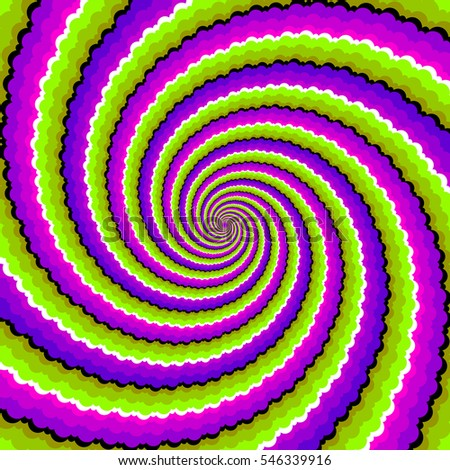 green  purple and pink