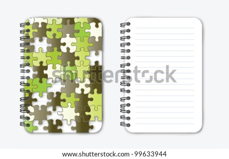 Green Puzzle Notebook