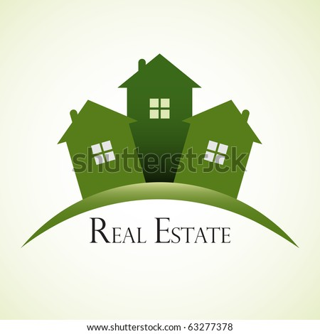 Green real estate concept design. - stock vector