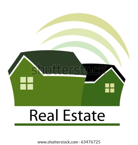 Green real estate design concept.