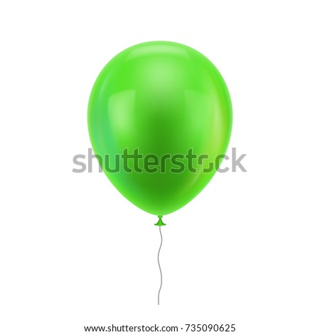 green realistic balloon green
