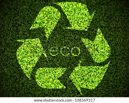 Green Recycle grass