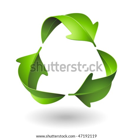 Green Recycle Leaves