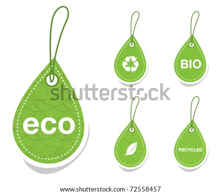 Green recycle tags