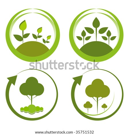 Green reforestation conceptual designs.