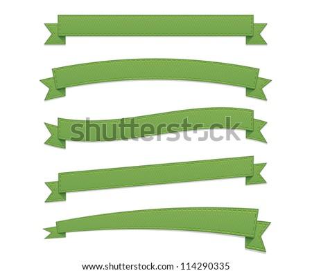 Green retro ribbons